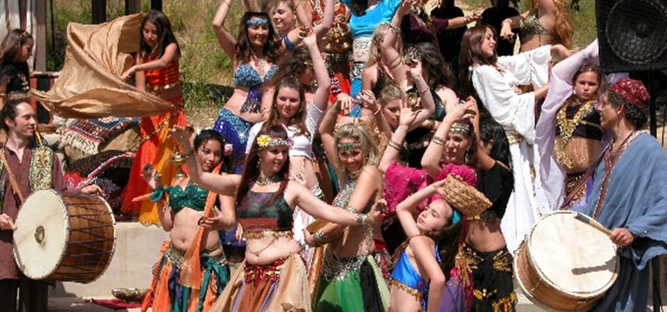 Topanga's Earthday Show Belly Dance Procession