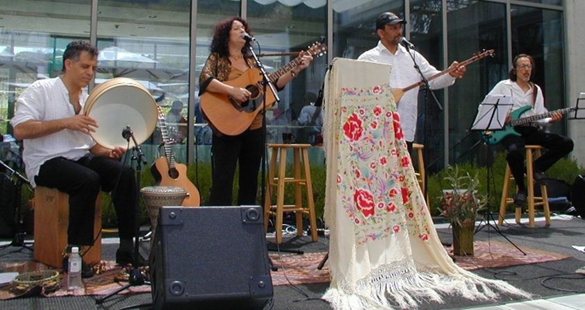 Performing with the Stefanie Valadez Ensemble at the Skirball Cultural Center