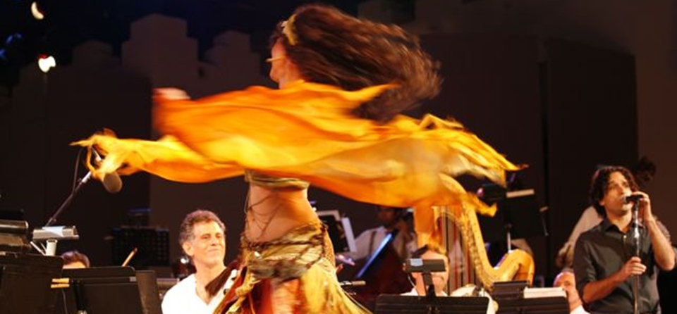 Performing at the Ford Amphitheater with the Yuval Ron Ensemble and the LA Jewish Symphony featuring dancer Melanie Kareem